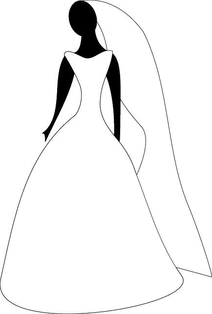 Free vector graphic bridal attire wedding gown bride free image