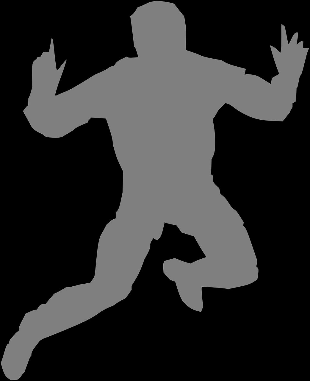 Картинки прыгающий человек нарисованными