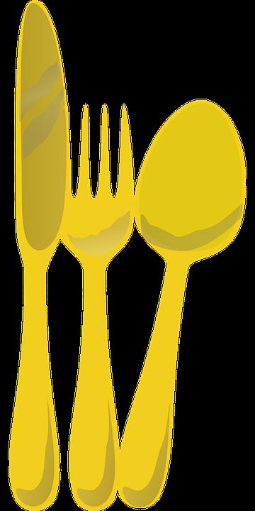 Imagem vetorial gratis talheres garfo faca colher - Set de table transparent ...