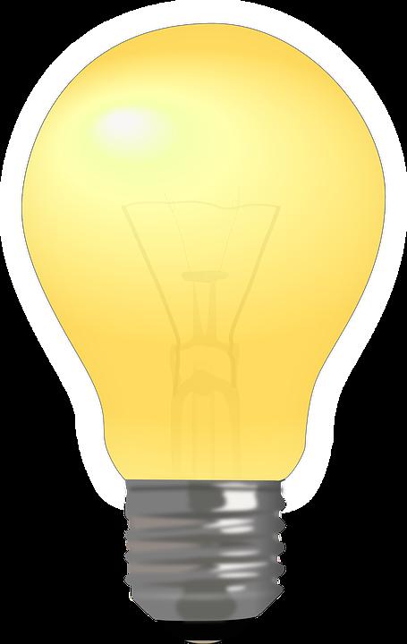 電球, ランプ, 光, フィラメント, 黄色, 電気, 電源, 明るい, アイデア, コンセプト, 技術
