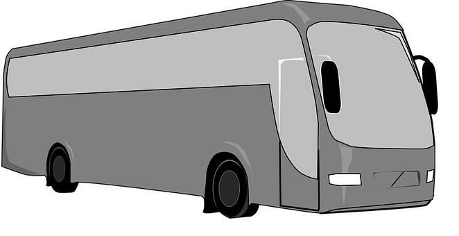 Bus, Charter, Tourism, Gray, Travel