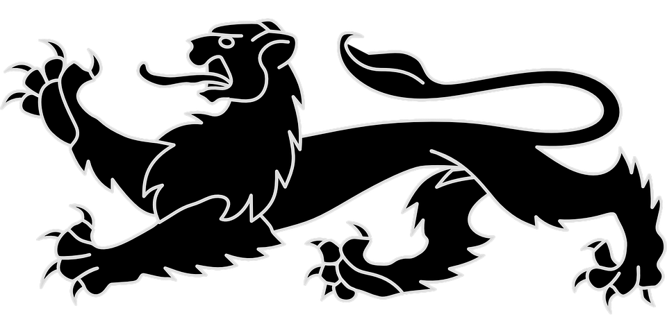 Lion Heraldic Animal Emblem Free Vector Graphic On Pixabay