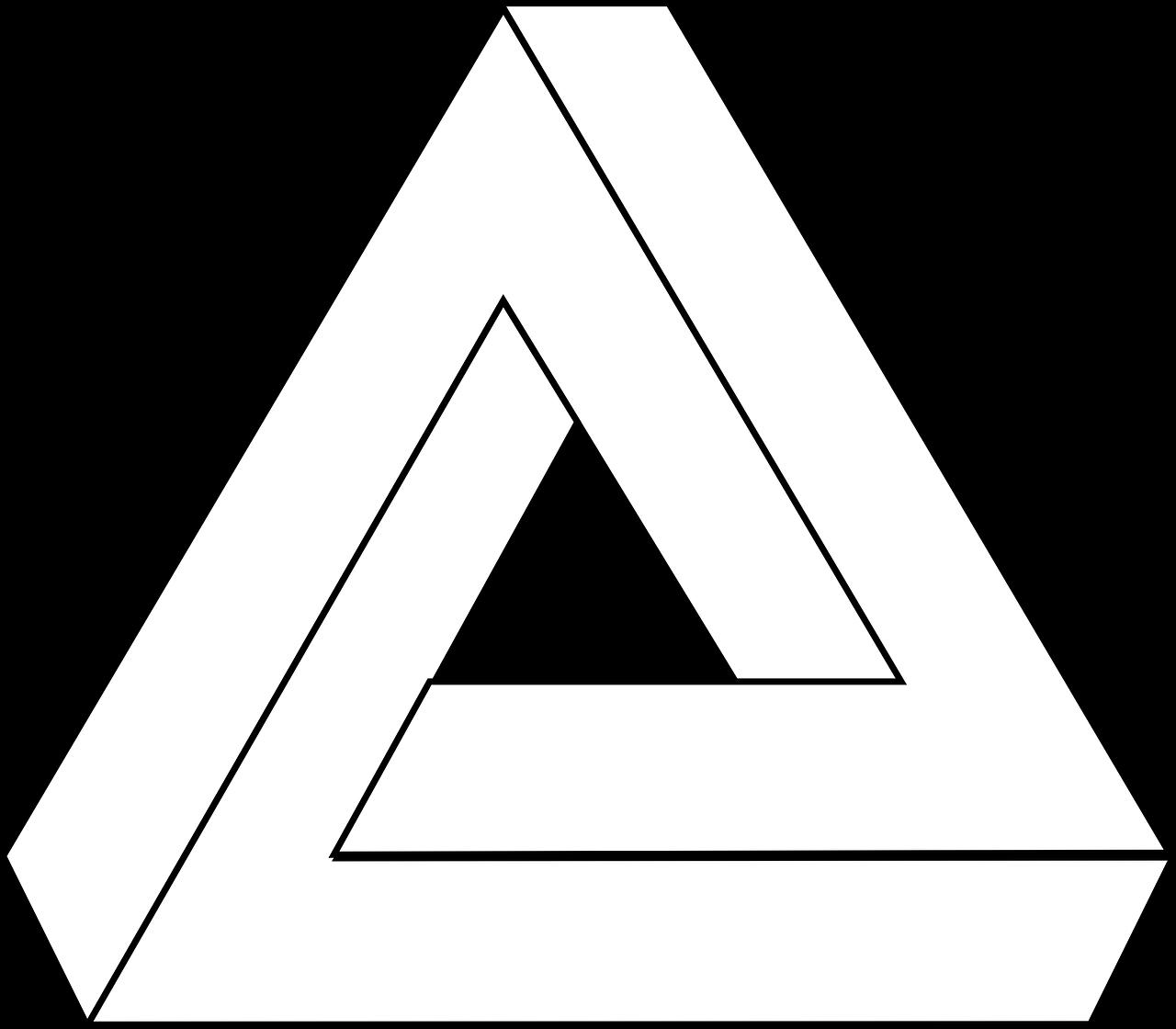 Картинки иллюзия треугольника