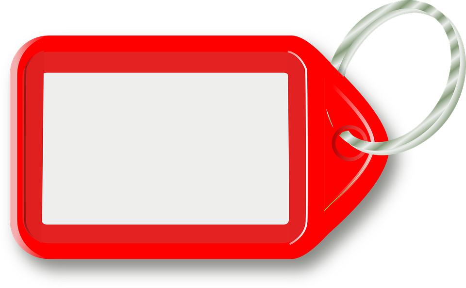 free vector graphic key  tag  blank  red free image on Printable Luggage Tags luggage tag clipart