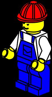 Lego, Továreň, Muž, Pracovník, Prilba