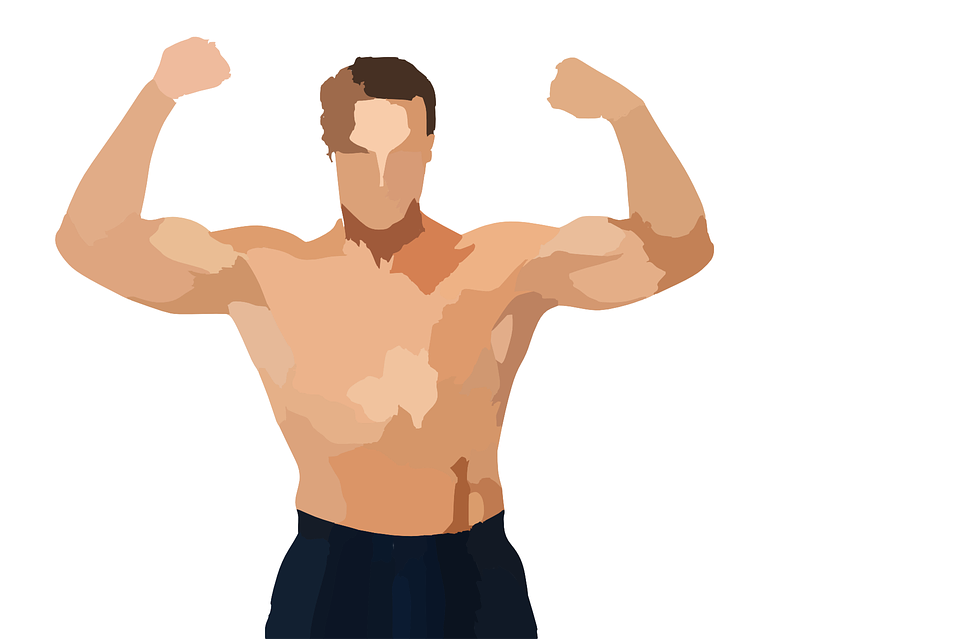 bodybuilding man body  u00b7 free vector graphic on pixabay Vintage Strong Woman Clip Art Strong Woman Silhouette Clip Art