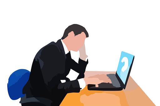 男, 作業, 行う何, 質問マーク, 思考, 熟考, Professional| KEN'S BUSINESS|ケンズビジネス|職場問題の解決サイト