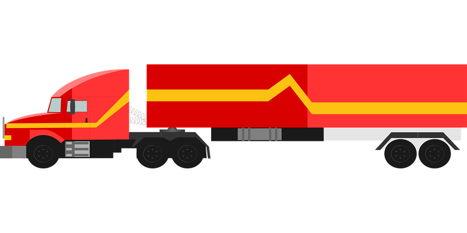 truck red 18 wheeler free vector graphic on pixabay rh pixabay com  18 wheeler clip art free