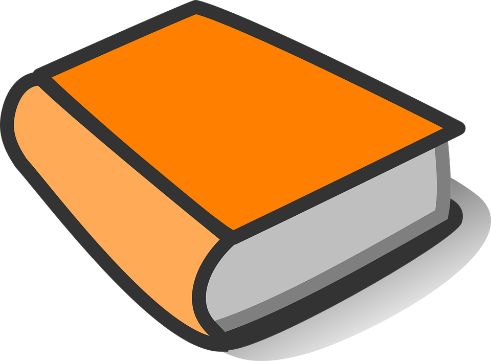 Blank Book Cover Graphic : Book orange thick · free vector graphic on pixabay