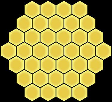 ハニカム, 六角形, ジオメトリック, パターン, ジオメトリ, 蜂蜜, 黄色