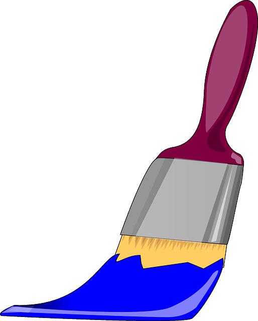 Free Vector Graphic: Paintbrush, Paint, Blue, Bristles