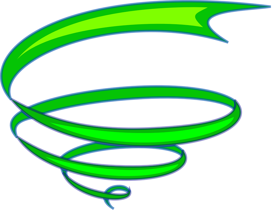 Free Vector Graphic: Spiral, Ribbon, Green, Whirl, Swirl