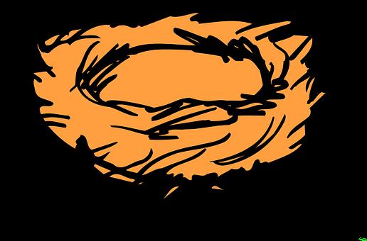 燕窝, 巢, 草, 树枝, 鸟, 鸡蛋, 母亲, 饲料, 小鸡, 叶子