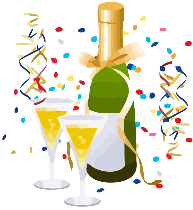 Festeggiare, Toast, Champagne, Celebrazione, Alcool