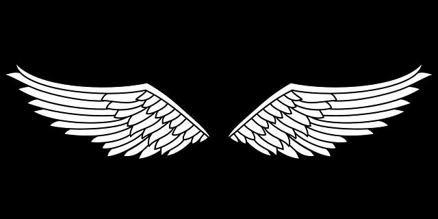 Kostenlose Vektorgrafik: Insignien, Flügel, Adler, Vogel