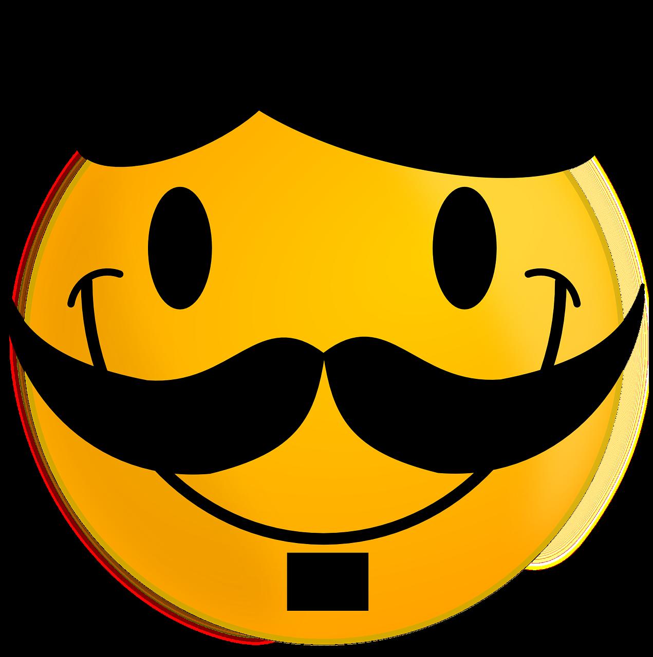 Smiley Moustache Happy   Free vector graphic on Pixabay