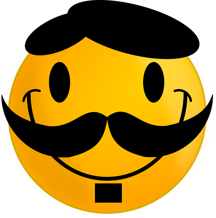 Free Vector Graphic Smiley Moustache Happy Face