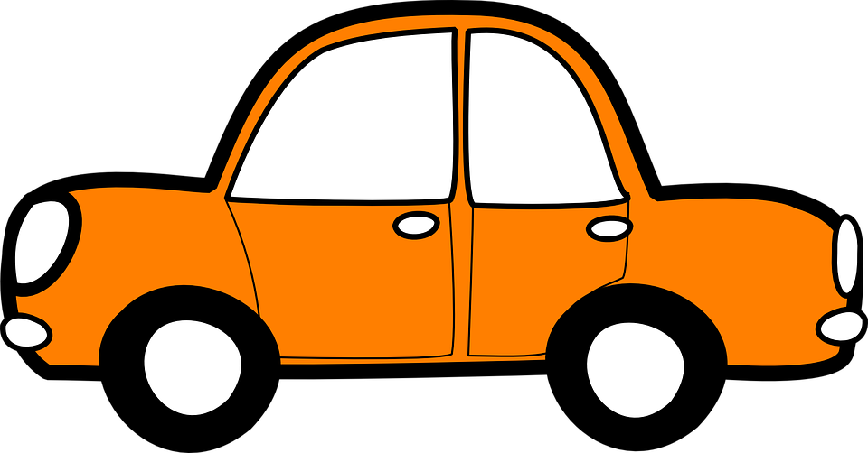 Car Orange Vehicle Transport Automobile Travel