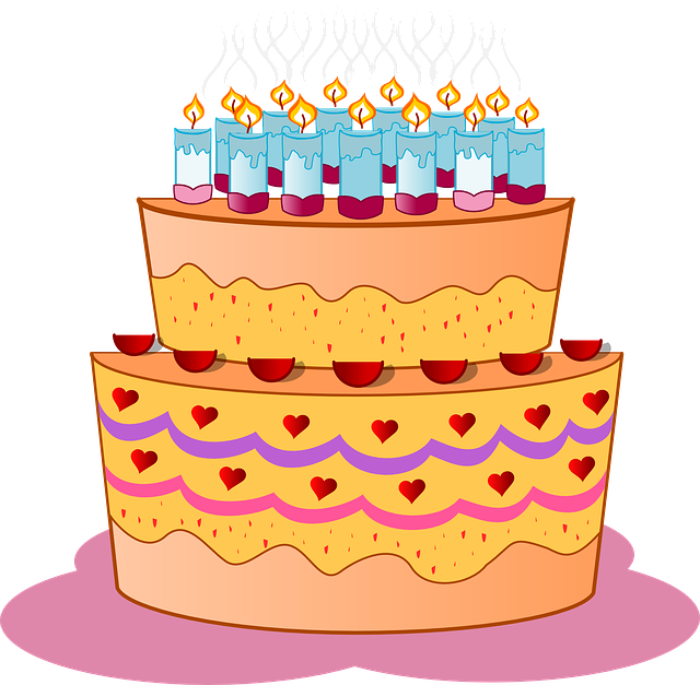 Cake Birthday Candles 183 Free Vector Graphic On Pixabay