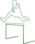 hurdles, jump, sports