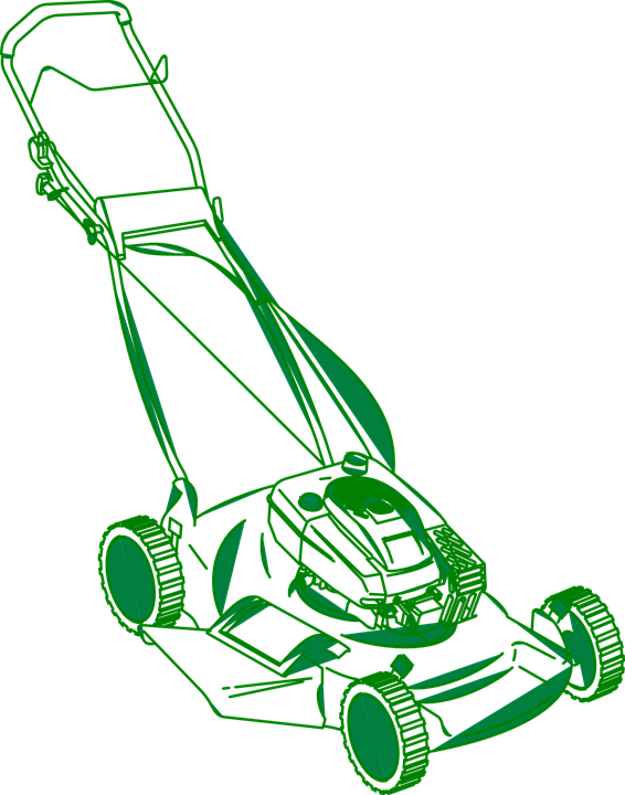Lawn Mower, Grass, Cut, Green, Equipment