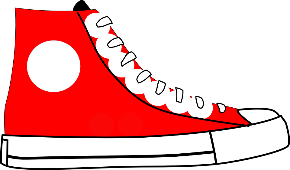 shoe sports shoes red free vector graphic on pixabay rh pixabay com Shoe Print Vector Shoe Vector Art