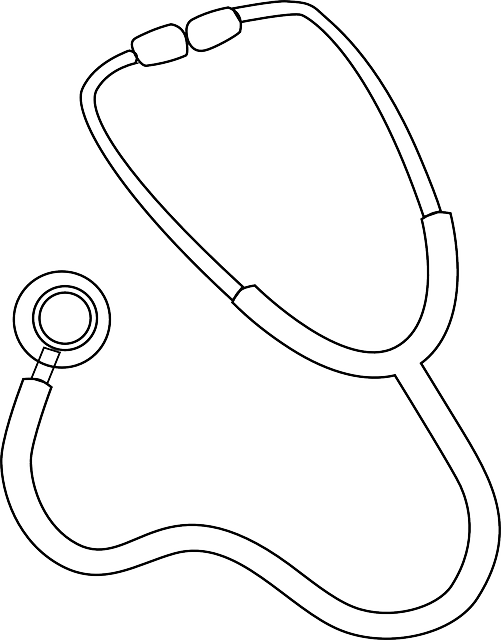 Stethoscope doctor medical free vector graphic on pixabay for Stethoscope coloring page