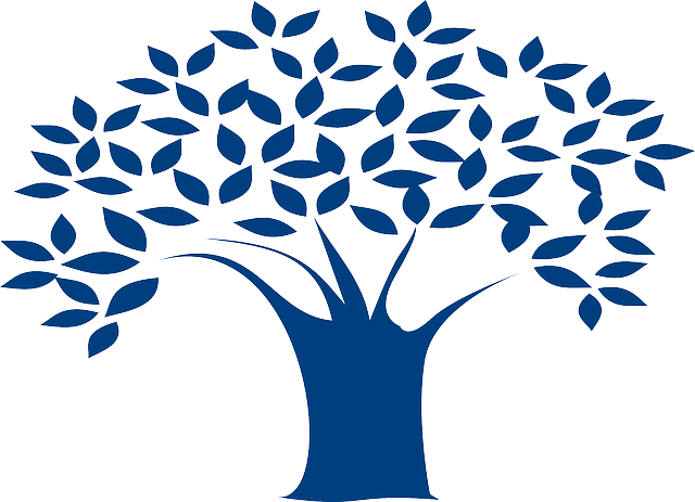 Free Vector Graphic Tree Branches Leaves Blue Free