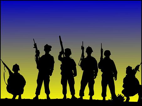 Soldats, Militaire, Armée De Terre