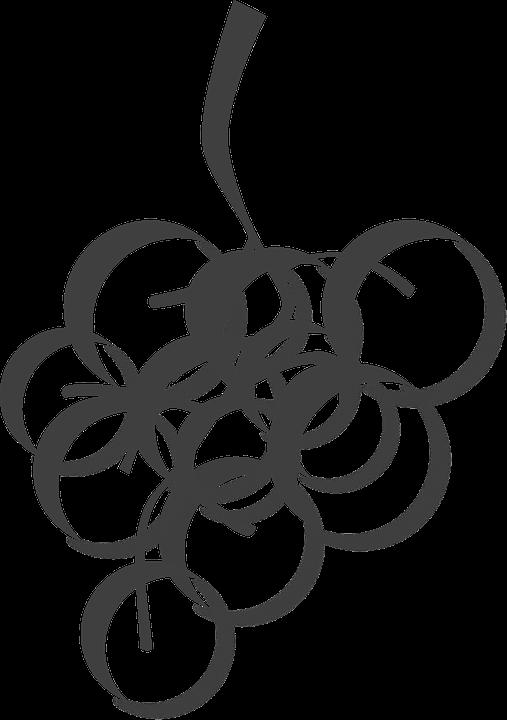 Winogrona Klaster Winorośl Darmowa Grafika Wektorowa Na Pixabay