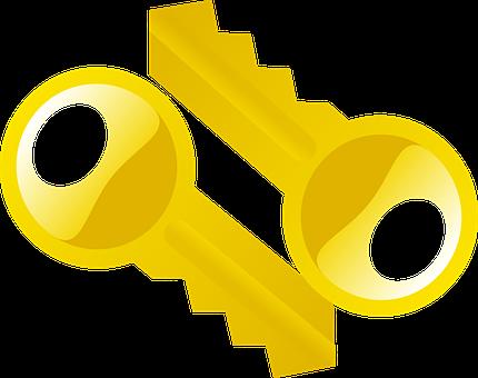 Keys, Yellow, Duplicates, Double, Unlock