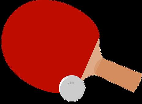 Ping-Pong, Table Tennis, Paddle, Bat