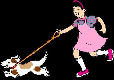 Mascota, Mascotas, Niña, Perro, Cachorro