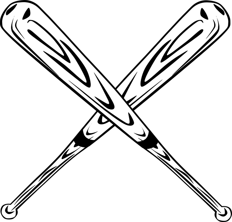 baseball bats crossed free vector graphic on pixabay rh pixabay com Baseball Bats Crossed with Ball Crossed Baseball Bats Silhouette