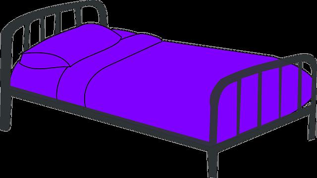 Cat Basket Clipart : Free vector graphic cot purple bed sleep sleeping