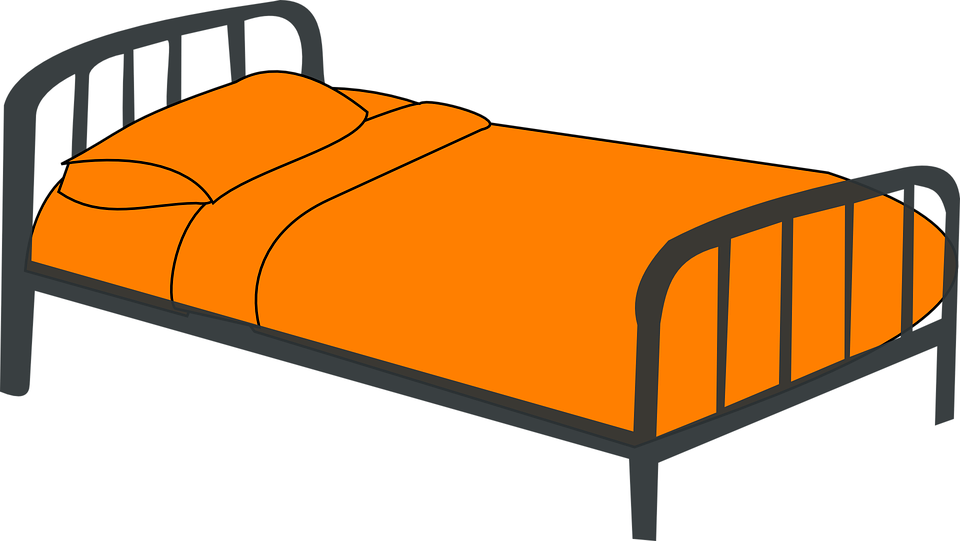 kostenlose vektorgrafik kinderbett bett orange m bel. Black Bedroom Furniture Sets. Home Design Ideas