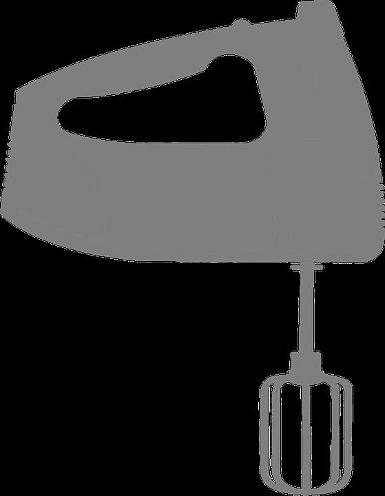 Hand Mixer Silhouette ~ Free vector graphic mixer hand held blender kitchen