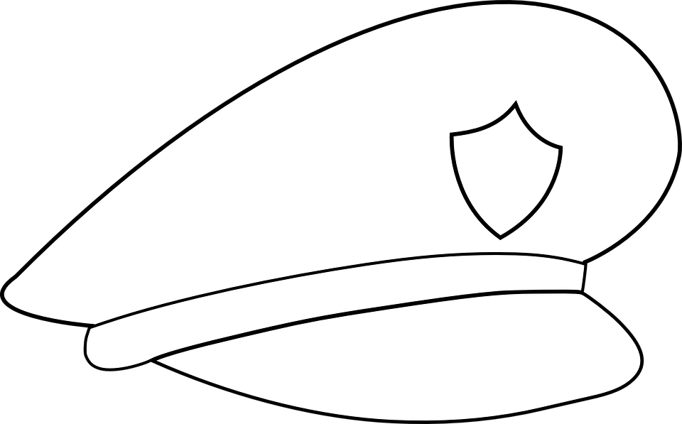 Policeman Hat Coloring Page
