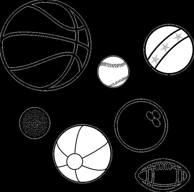 Мячик картинка карандашом