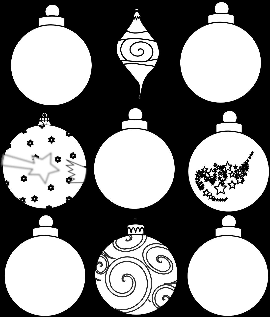 Елочные шары рисунок