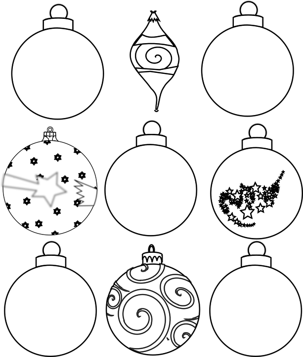 Christmas Ornaments Free Vector Graphic On Pixabay