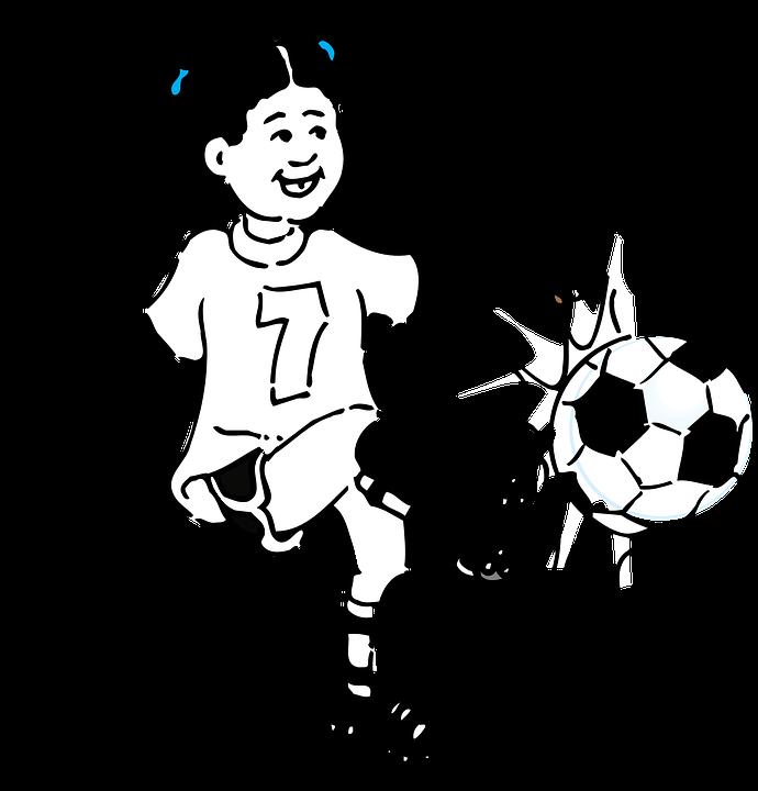 女孩, 足球, 踢, 运动, 球, 年轻, 女性, 快乐, 游戏, 7 号, 热情, 活跃, 乐趣