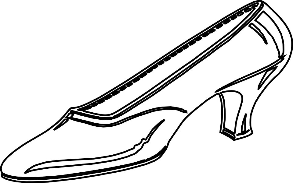 Shoe Flower Line Drawing : Free vector graphic womens shoe high heels image