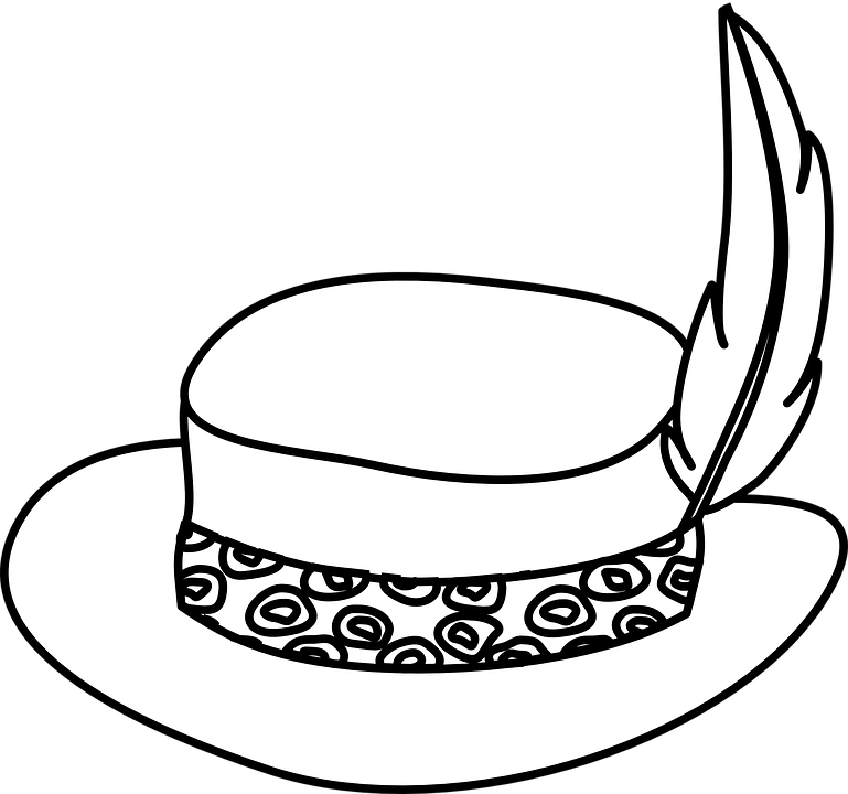 Black And White Hat Part : Free vector graphic hat beautiful feather fashion