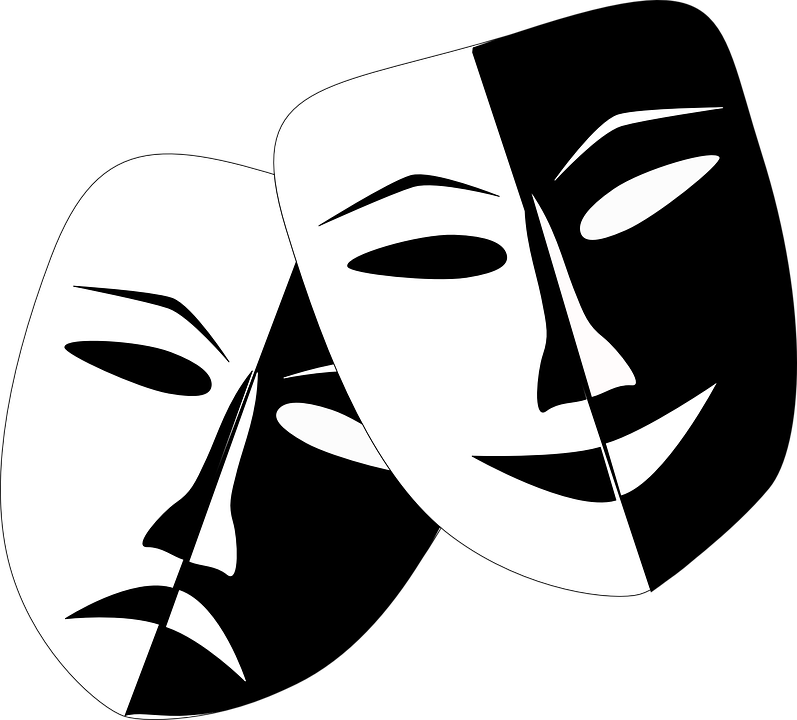 Drama comedy and tragedy theater free vector graphic on for Art dramatique