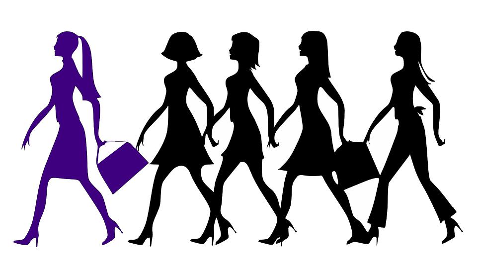 Leider, Vrouwen, Wandelen, Vrouwelijke, Paars, Black