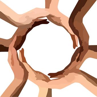 Cercle, Mains, Travail D'Équipe