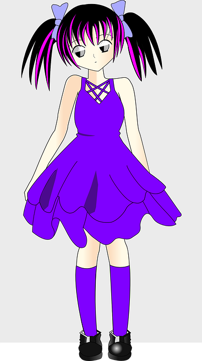 Free vector graphic girl dress lilac purple cute free image on