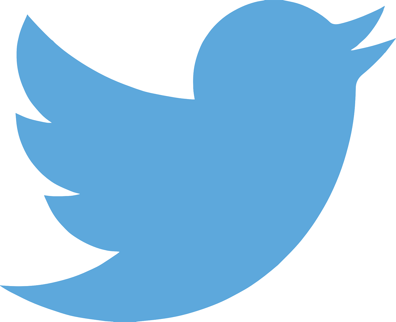 Twitter logo of blue bird