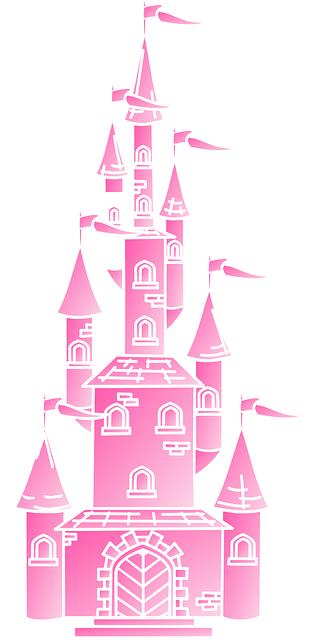 castle flags clip art